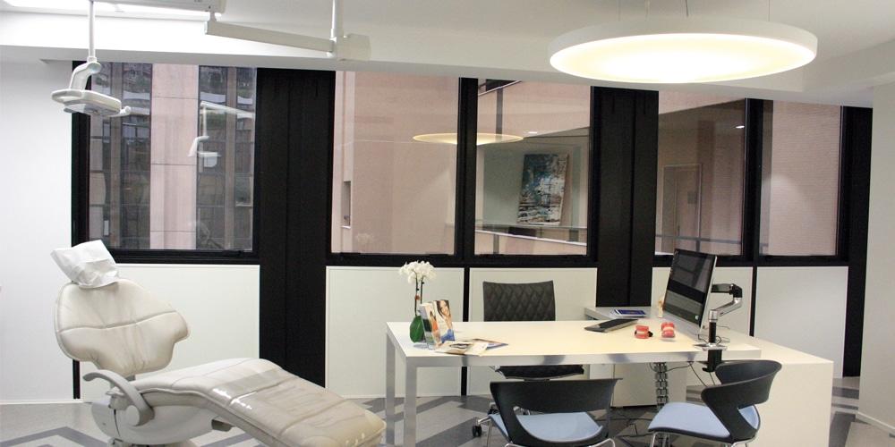 Cabinet de consultation - Pétale acoustique et dalles 600x600mm