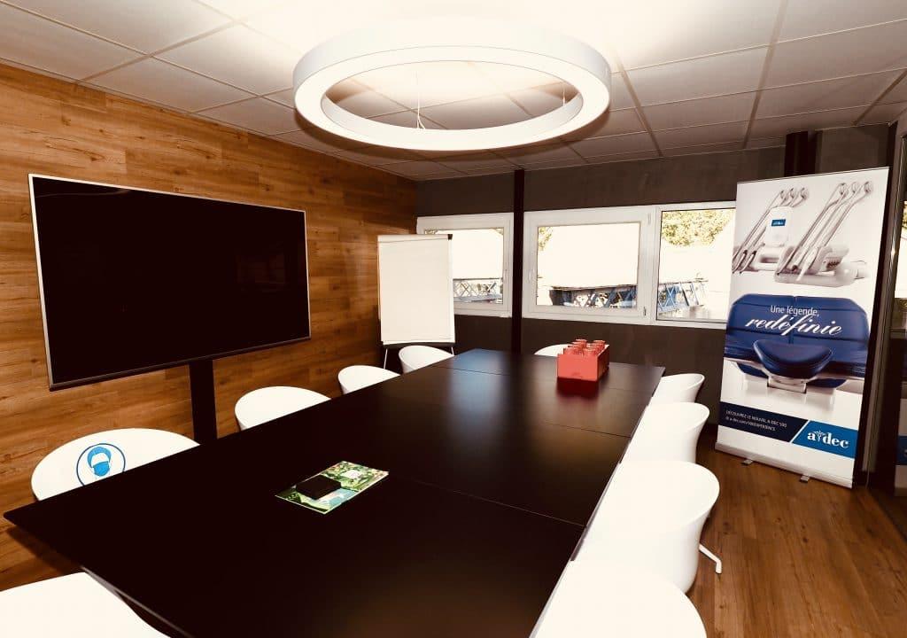 Risorius en salle de réunion Adec France